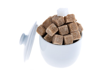 Brown sugar. Unhealthy diets with carbohydrates