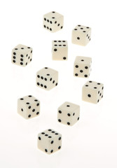 Cube of a game on a white background.