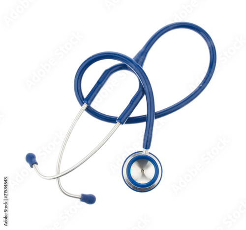 Stethoscope, a doctor. Isolated on white background.