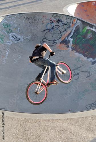 Deurstickers BMX/ Dirt Biker Jump
