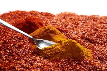 Spoon in spices
