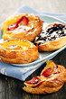 Plate of fruit danishes