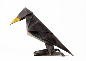 hand made origami  raven
