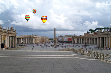 The St. Peter's Square in Vatican City