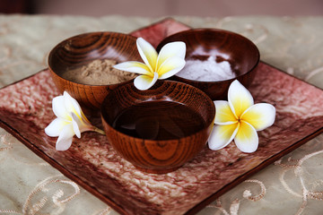 Plumeria flowers in spa