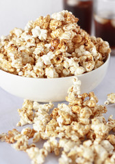 Sweet Pop Corn with Cola background