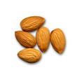 Almonds isolated on white