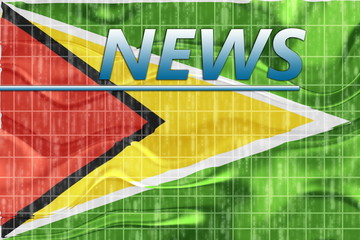 Flag of Guyana wavy news