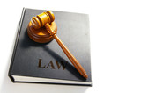 legal gavel on a law book poster