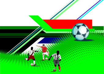 World Cup Soccer banner. Colored Vector illustration