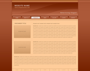 Brown vector web site template