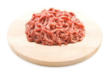 Fresh red raw meat