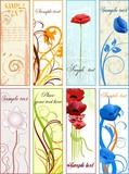 Vertical floral banners or bookmarks