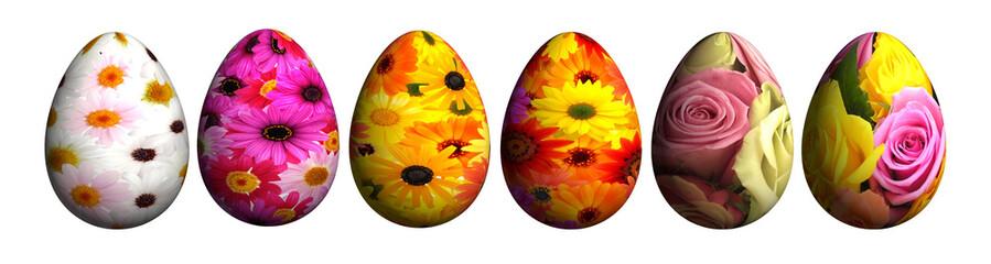Blumen-Eier