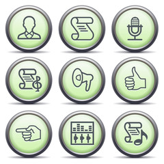 Icons with green buttons 31