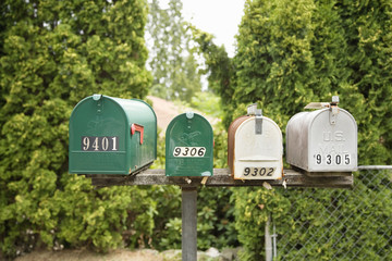 Four Mailboxes