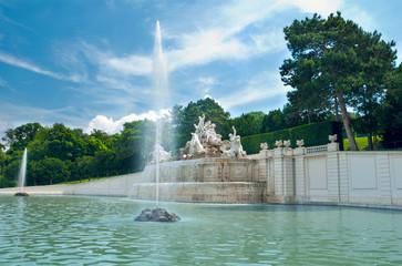 Fountain in the park of Schloss Schönbrunn, Vienna Austria