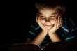 Boy reading bedtime story - 21611015