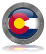 State of Colorado Flag Web Button (Coloradan USA America Vector)