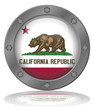 State of California Flag Button (Californian USA America Vector)