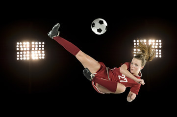 Soccer kick with lights