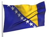 Flying Flag of Bosnia and Herzegovina - All Countries poster
