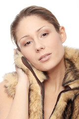 Woman in fur