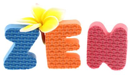 """zen """"tongs de plage"""" fleuri, vacances au soleil, fond blanc"""