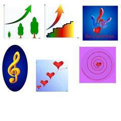 colored diagrams