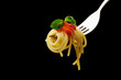 forchetta con spaghetti