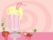 Leinwandbild Motiv milkshake