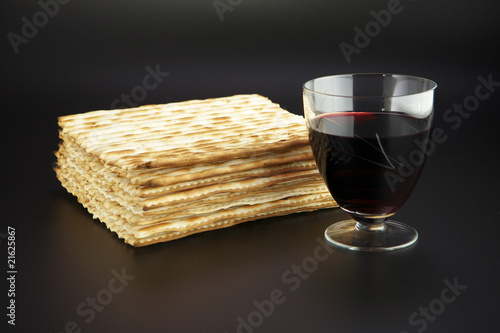 Jewish feast Passover traditional food Matza and red wine