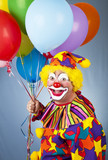 Happy Clown With Balloons-