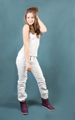 standing teen  girl