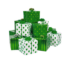 heap of  green gifts