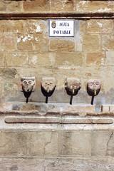 Fuente en la plaza mayor de Grazalema,Cádiz,Andalucia