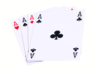 Four of aces isolated