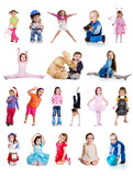 Fototapety Set of cute little children