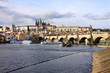 Prague gothic Castle with the Charles Bridge