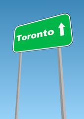 Toronto, Canada roadsign