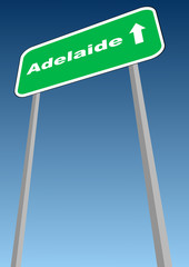 Adelaide - road sign in Australia