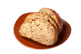Black bread with  bred grains poster
