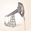 Realistic clip-art Oil pump , only gradients used