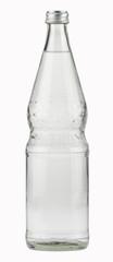 Mineralwasser,Glasflasche isoliert mit Pfad