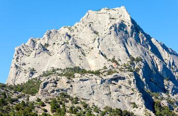 rock on blue sky background
