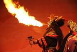 Sichuan Oper Feuer spucken