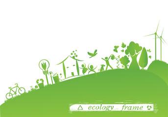 green ecology design frame