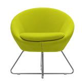 yellow minimal chair poster