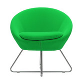 green minimal chair poster