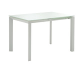 minimal white table poster